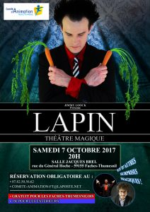 affiche spectacle magie LAPIN Faches Thumesnil